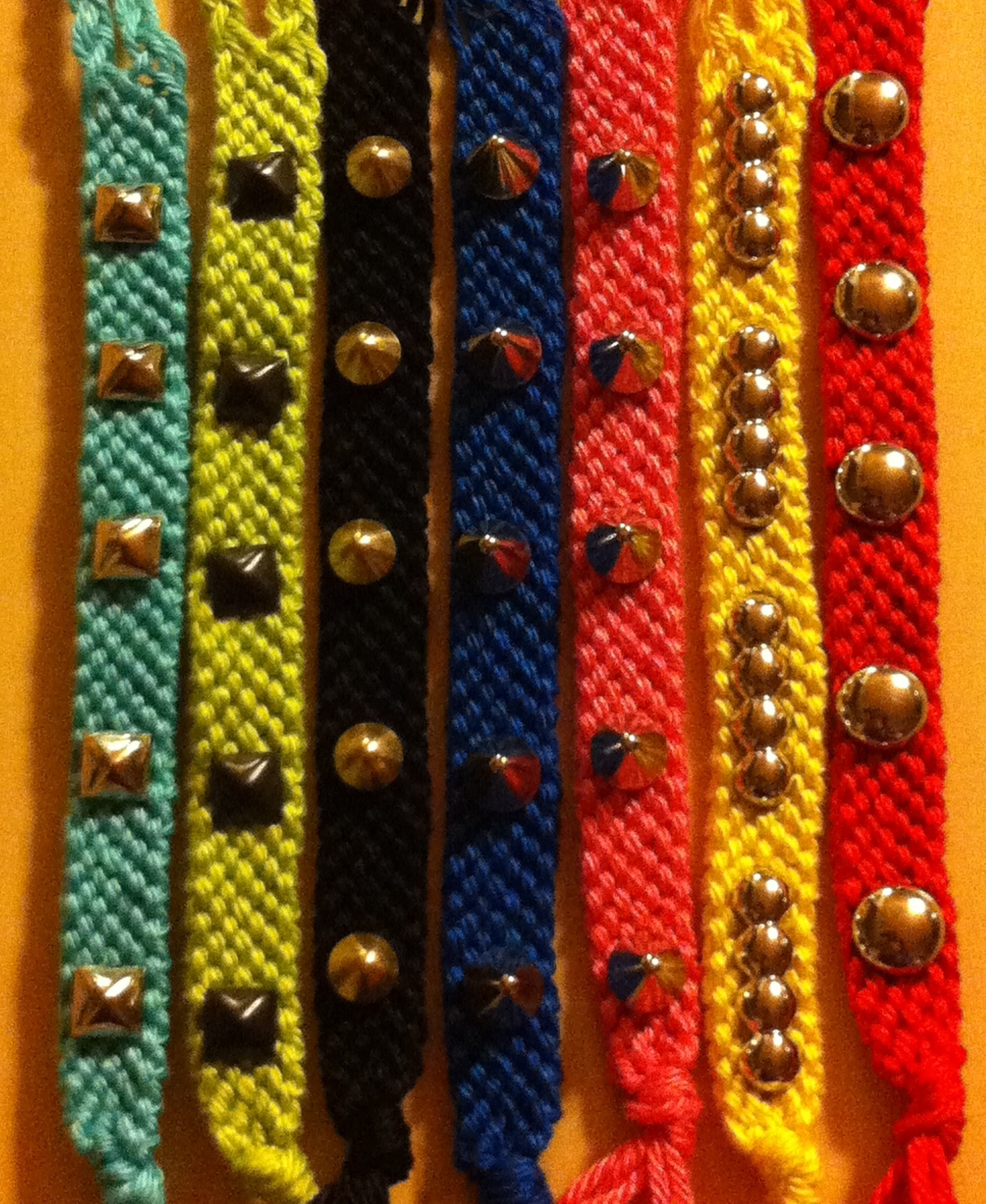 Solid Color Studded Bracelet